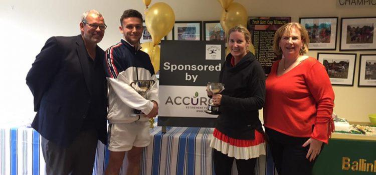 Accuro Sponsors Ballinlough Tennis Club(BTC) Closed