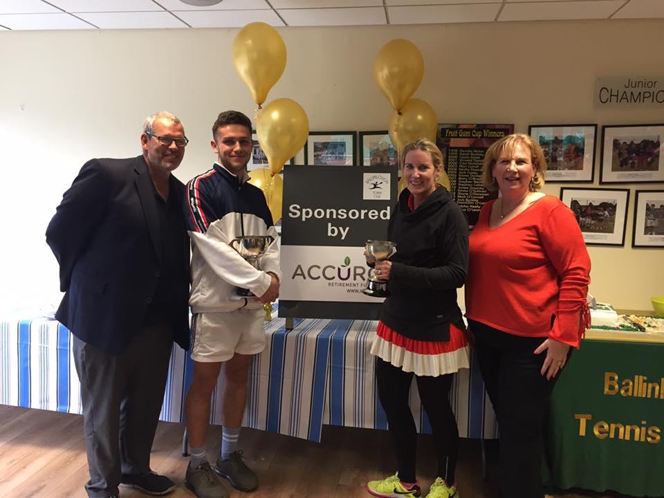 Accuro sponsors Ballinlough Tennis Club Closed